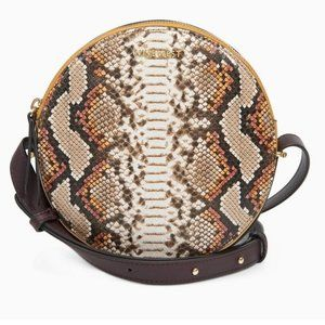 Nine West Snakeskin Oval Mini Crossbody Purse Bag